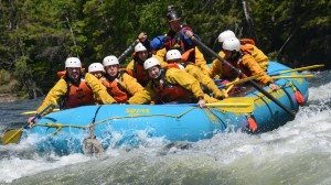 Travellers experience adrenaline-fuelled excitement on the Chilcotin River, thanks to Interior Whitewater Expeditions, a company committed to perfecting—and greening— vactions into the Interior wilderness. Photo courtesy of Interior Whitewater Expeditions.