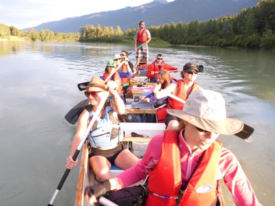 Paddling the upper Fraser, between Dunster and McBride. Photo: Jacquie Lanthier
