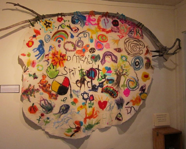 Felted mural created at the Women's Spirituality Circle gathering in March, 2014. Photo: Liliana Dragowska