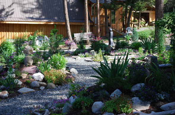 A Cariboo country xeriscape garden. Photo: Marg Evans