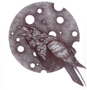 "Ballpoint pen drawing by Ciel Patenaude. ""Raven"""