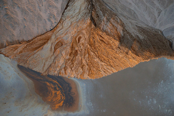 Alluvial Fan, Albian Sands, Muskeg River Mine, Fort McKay, Alberta, Canada. Photo: Louis Helbig