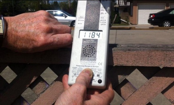"BC Hydro's claim that ""smart meters communicate for about 1.4 seconds per day"" was debunked by an on-site measurement of a smart meter in Richmond, BC, which shows continual emissions of microwave radiation. Full video can be viewed at  https://youtu.be/vNrRIFkiHKM"
