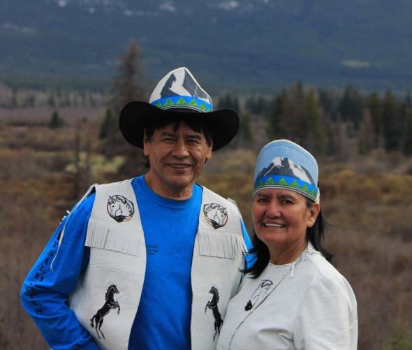 The 40th Annual Elders Gathering hosts the King and Queen, James Lulua Sr. and Dinah (Solomon) from the Xeni Gwet'in First Nation, Nemiah Valley. See www.eldersgathering.ca/gatherings/40th-annual for more info. Photo: Marilyn Baptiste