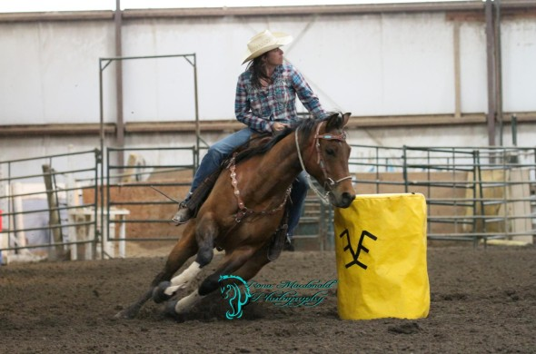 Life is a balancing act and an adventure for Charlotte Attrill, who enjoys a life-long connection with horses, competing in rodeos while holding down a full-time job and running the family ranch. Photo: Rona Macdonald Photography