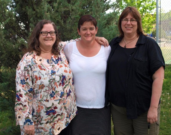 (L to R) Three executive members of the Williams Lake Refugee Sponsorship Group: Sharon Taylor (communications), Kirsten Konge (vice-president), and Sherry Yonkman (treasurer) Photo: Rachel Taylor