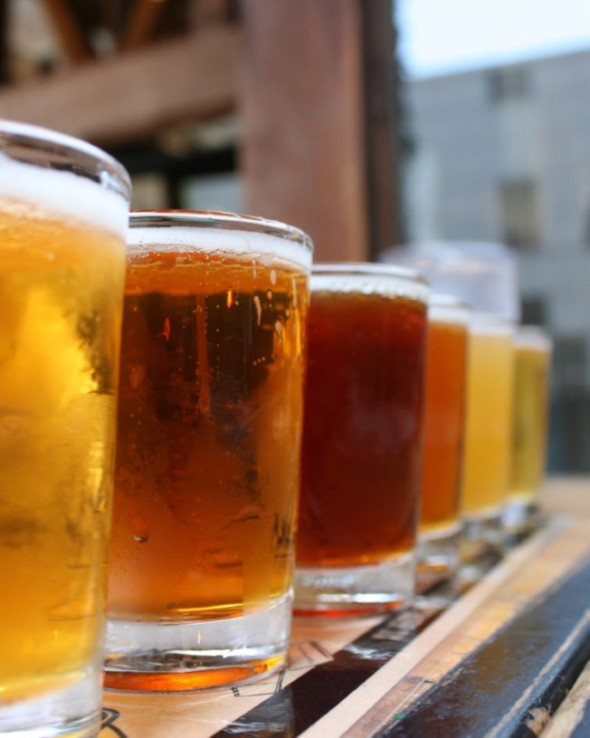 Craft beer samplers. Photo: Quinn Dombrowski/www.quinndombrowski.com