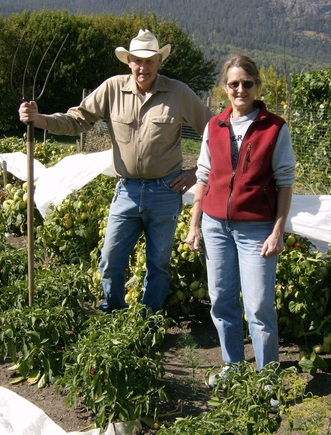 Linda and Charlie Archibald of Fraserbench Farms. Photo submitted by Linda Archibald