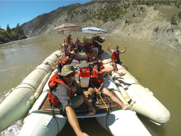 Having fun and enjoying the sights and sounds of the Fraser Canyon, south of Sheep Creek Bridge. Photos: Oliver Berger