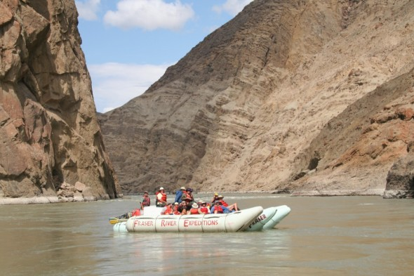 Fraser River Raft Expeditions on the Lower Fraser River. Photo: Fraser River Raft Expeditions