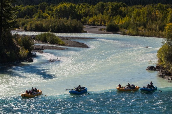 Chilko and Taseko River Junction, Big Canyon Rafting. Photo: Dave Prothero