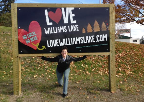 Heidi Jakubec, Small Town Love Williams Lake champion, loves supporting and promoting small businesses in our community. Photo: LeRae Haynes