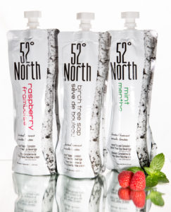 Revitalizing, natural birch water from 52° North comes in eco-friendly, convenient pouches