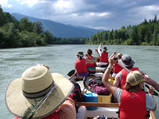 The SLLP canoeing the Upper Fraser River. Photo: Doug Radies