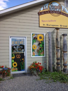 The friendly and bright storefront of Lac La Hache Bakery in Lac La Hache. Photo submitted by Yvette Betz