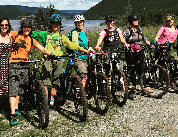 Beth Holden, Rebekah Smiley, Jacinta D'Andrea, Jane Wellburn, Angie Delainey, Mary Forbes, and Venta Rutkauskas out for a June birthday ride. Photo: Beth Holden