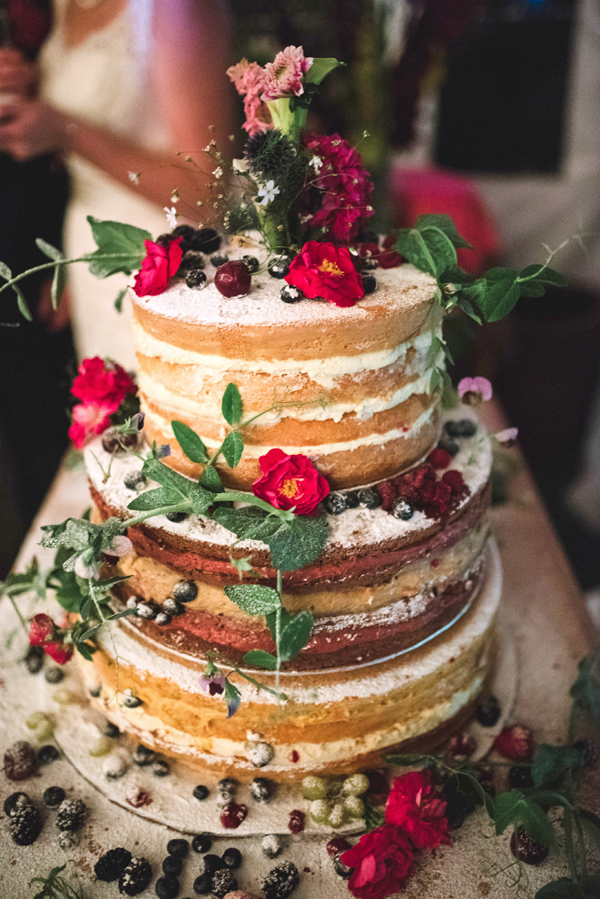 A Two with Nature Foods natural wedding cake - pretty, healthy and delicious. Photo: Stacey Krolow