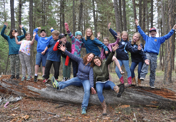 The Mountview Elementary School Nature Club loves learning and discovering in the great outdoors. Photo: LeRae Haynes