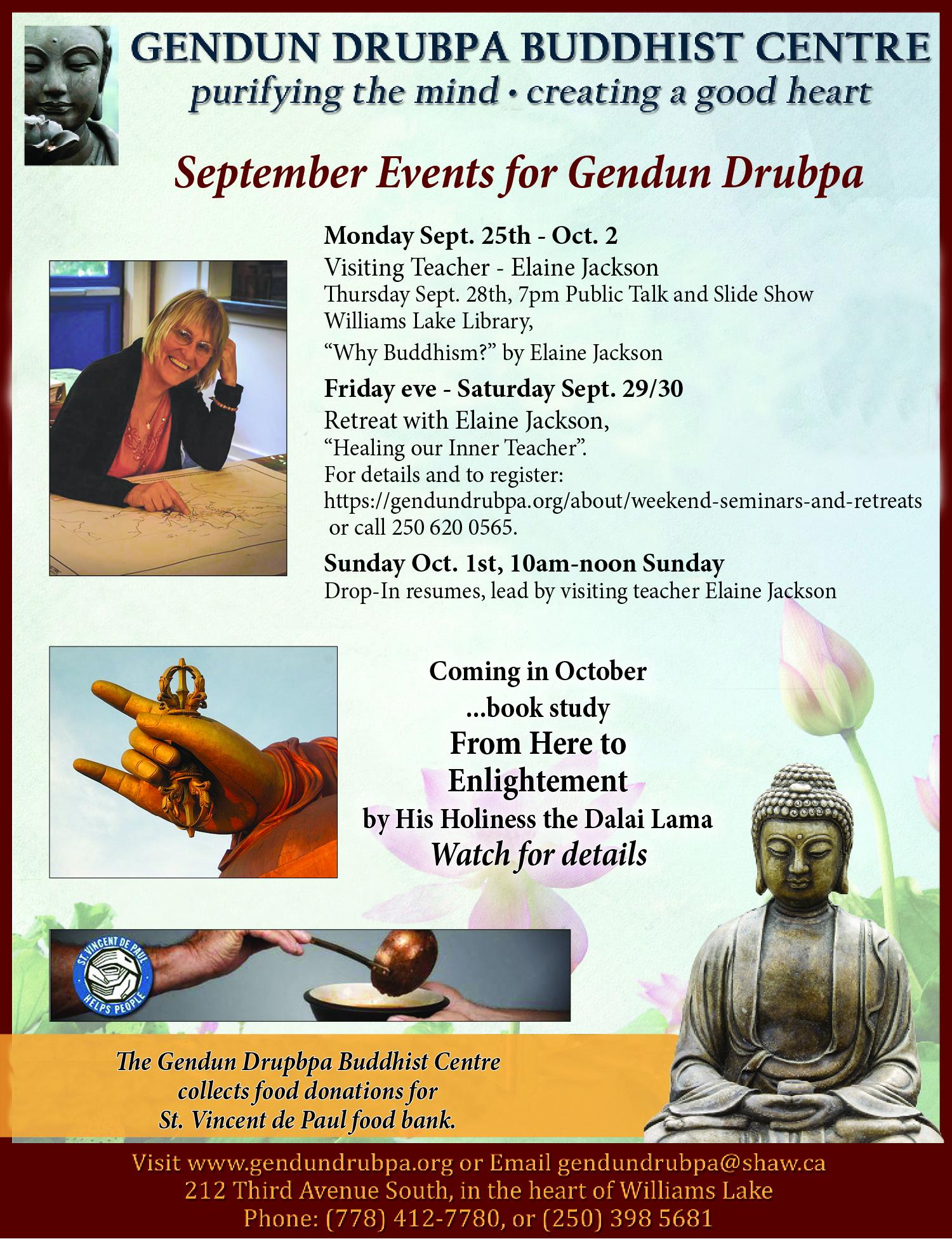 """Gendun Drubpa Buddhist Centre – """"Healing our inner Teacher"""
