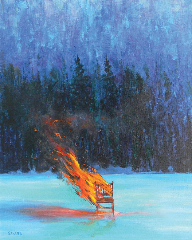 Burning Chair by James Savage